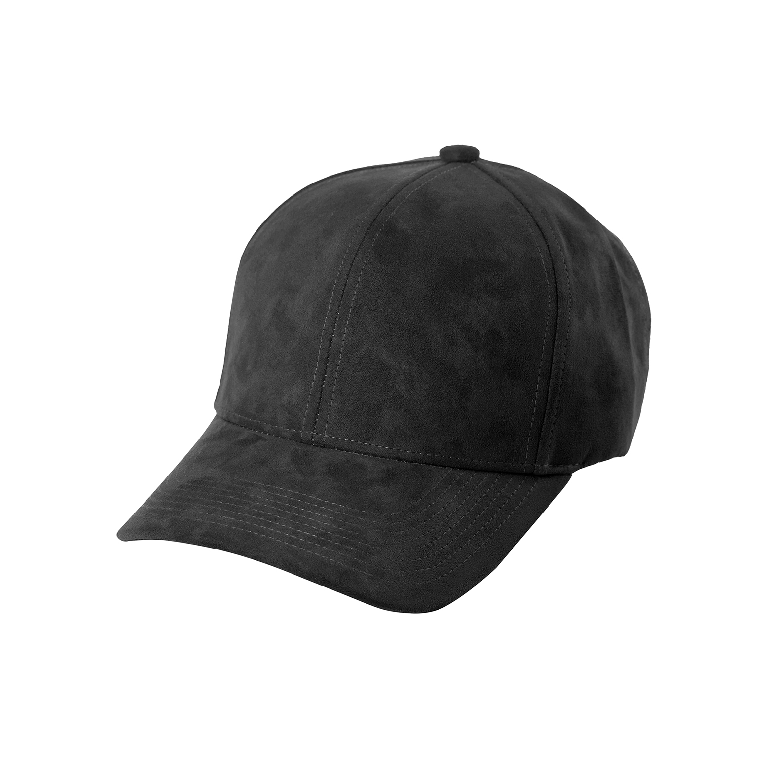 BASEBALL CAP ANTHRACITE SUEDE FRONT SIDE