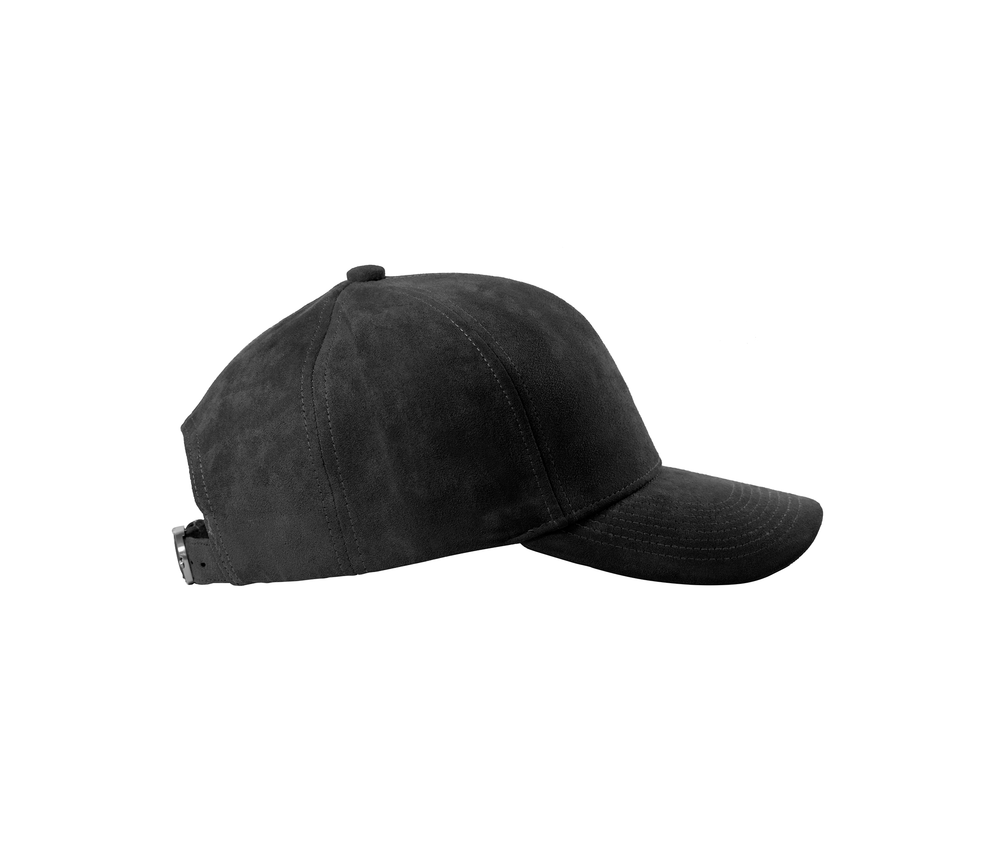 BASEBALL CAP ANTHRACITE SUEDE FROZEN GREY SIDE