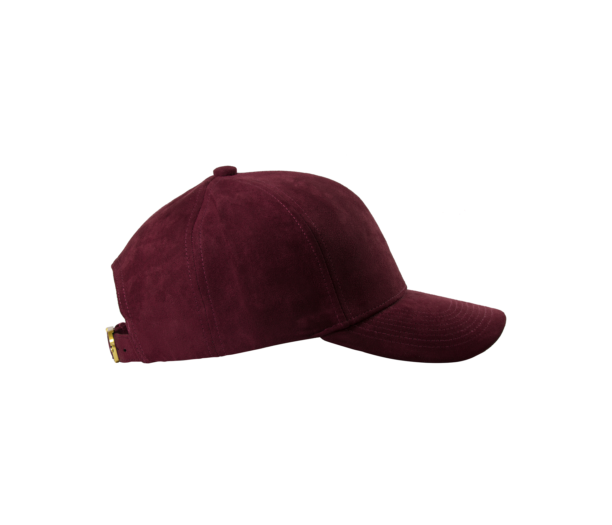 BASEBALL CAP BORDEAUX GOLD SUEDE SIDE