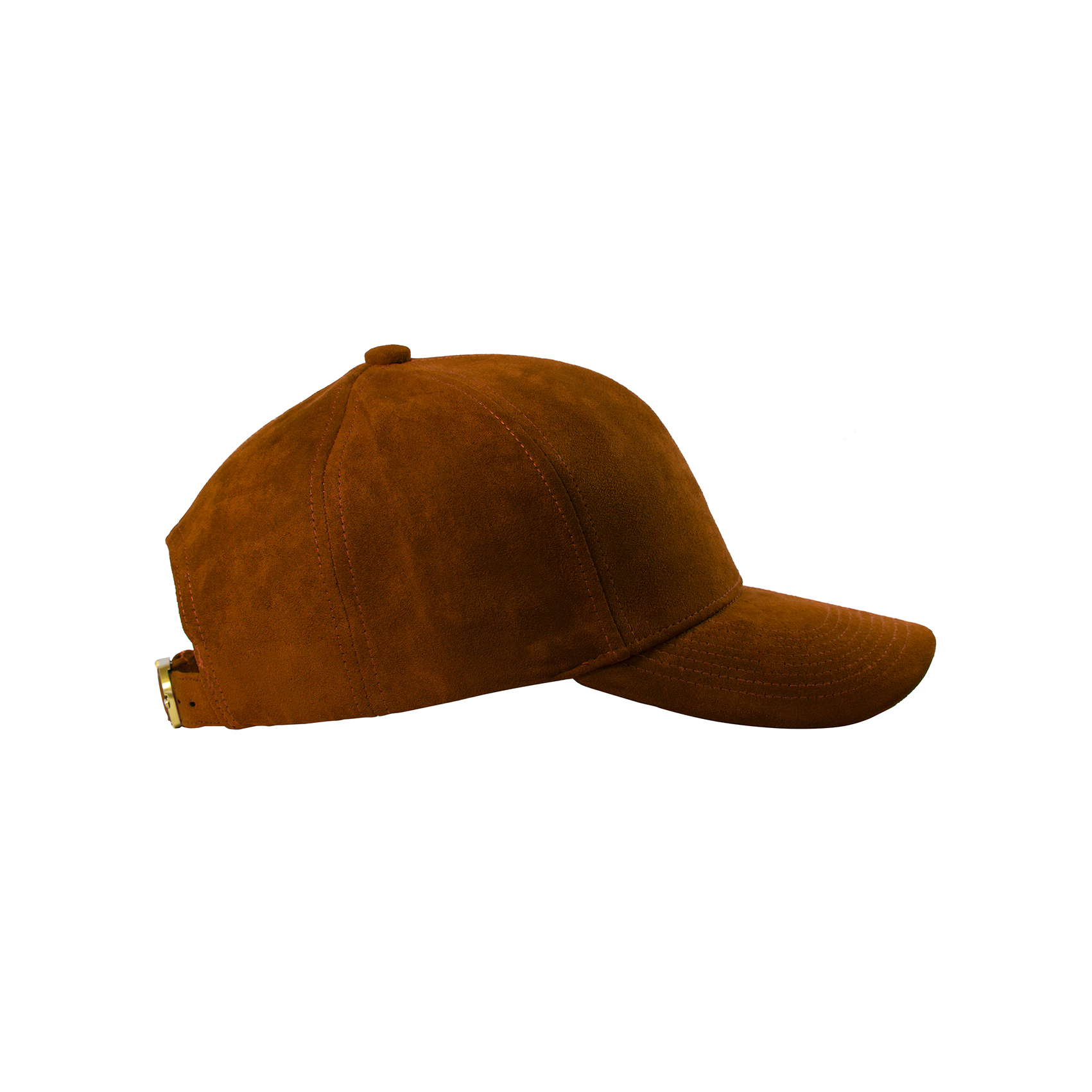BASEBALL CAP BROWN SUEDE GOLD SIDE