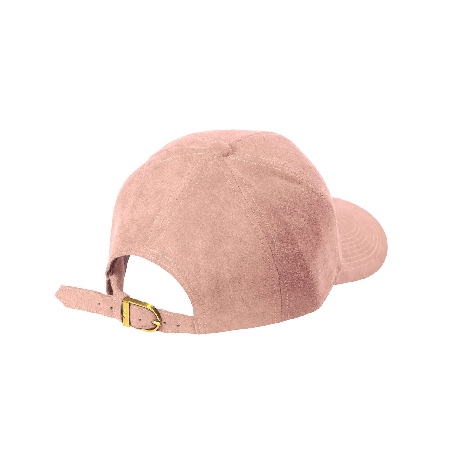 BASEBALL CAP CLOUD PINK SUEDE GOLD BACK SIDE