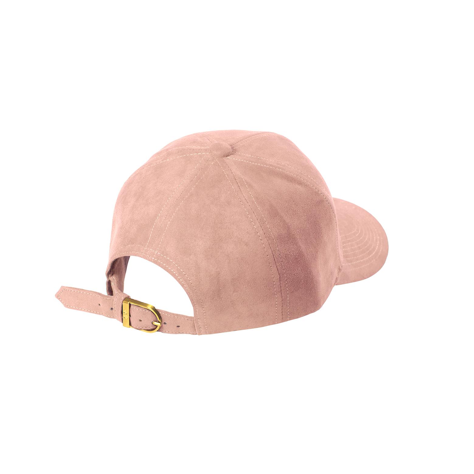 BASEBALL CAP CLOUD PINK SUEDE GOLD BACK SIDE