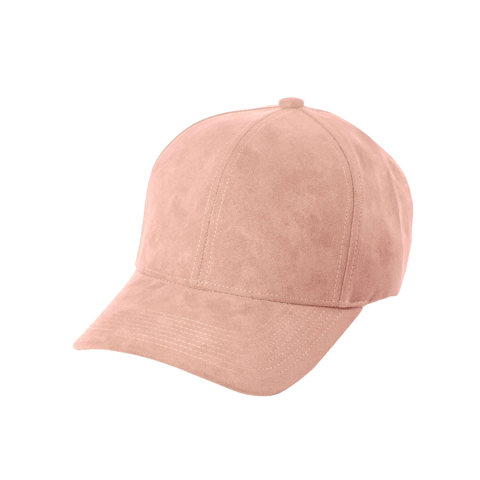 BASEBALL CAP CLOUD ROSE SUEDE FRONT SIDE