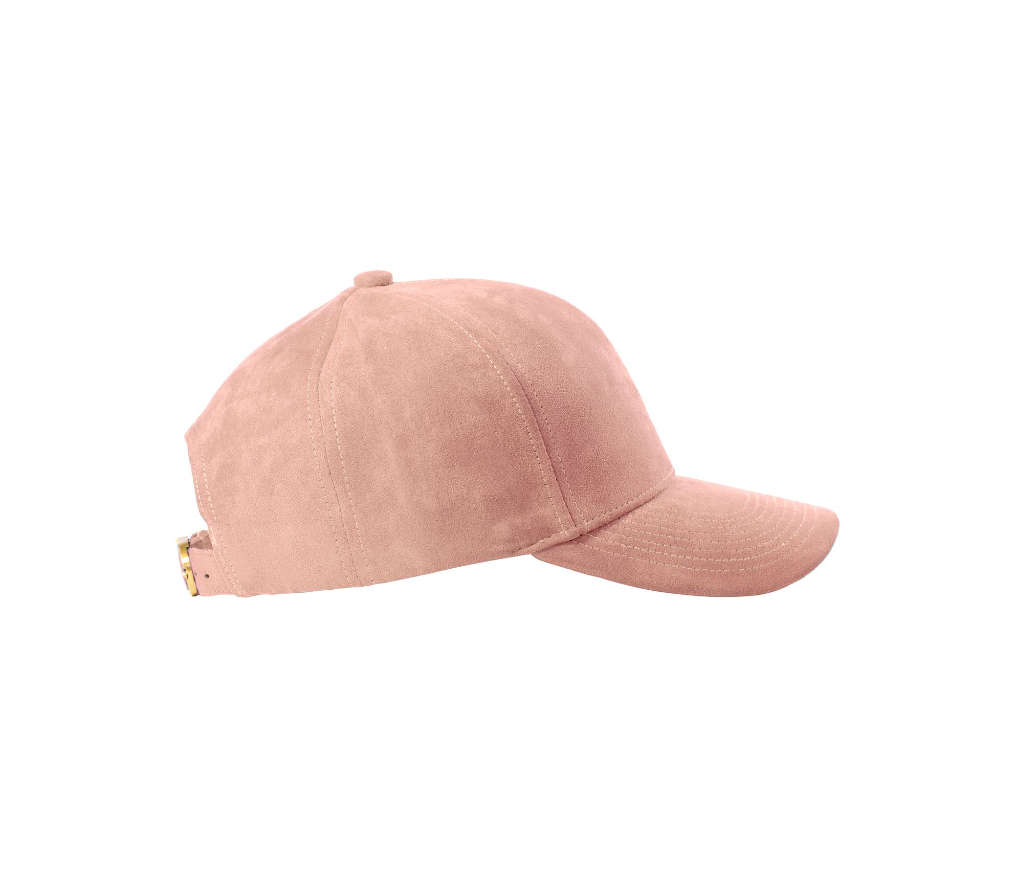 BASEBALL CAP CLOUD ROSE SUEDE GOLD SIDE