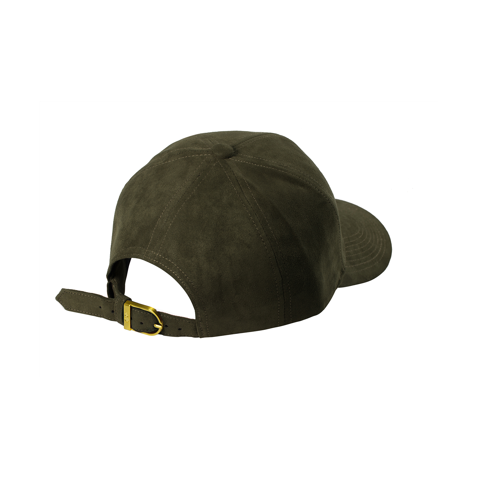 BASEBALL CAP OLIVE SUEDE BACK SIDE