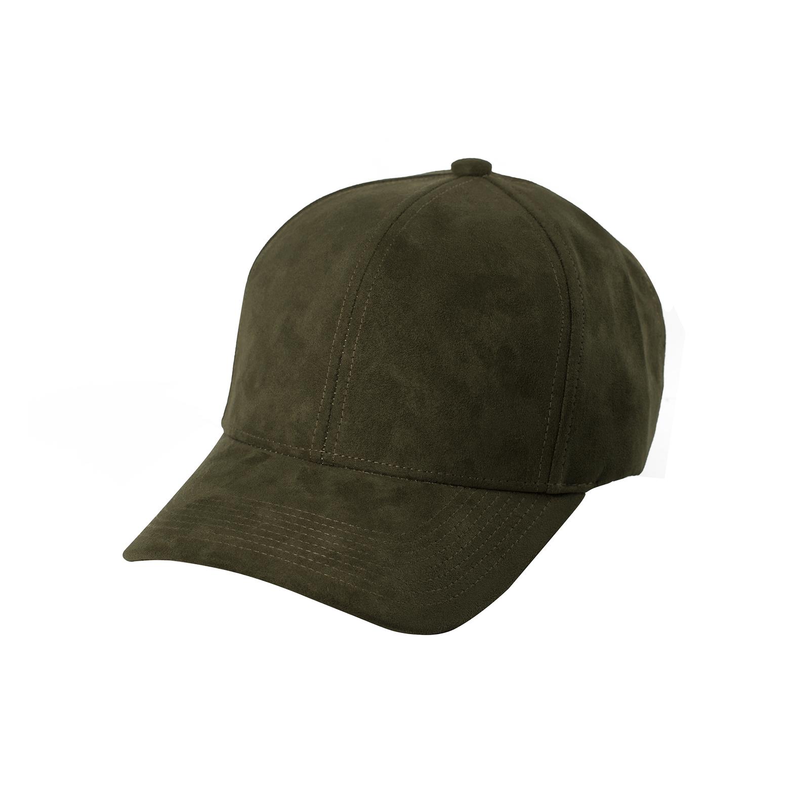 BASEBALL CAP OLIVE SUEDE FRONT SIDE
