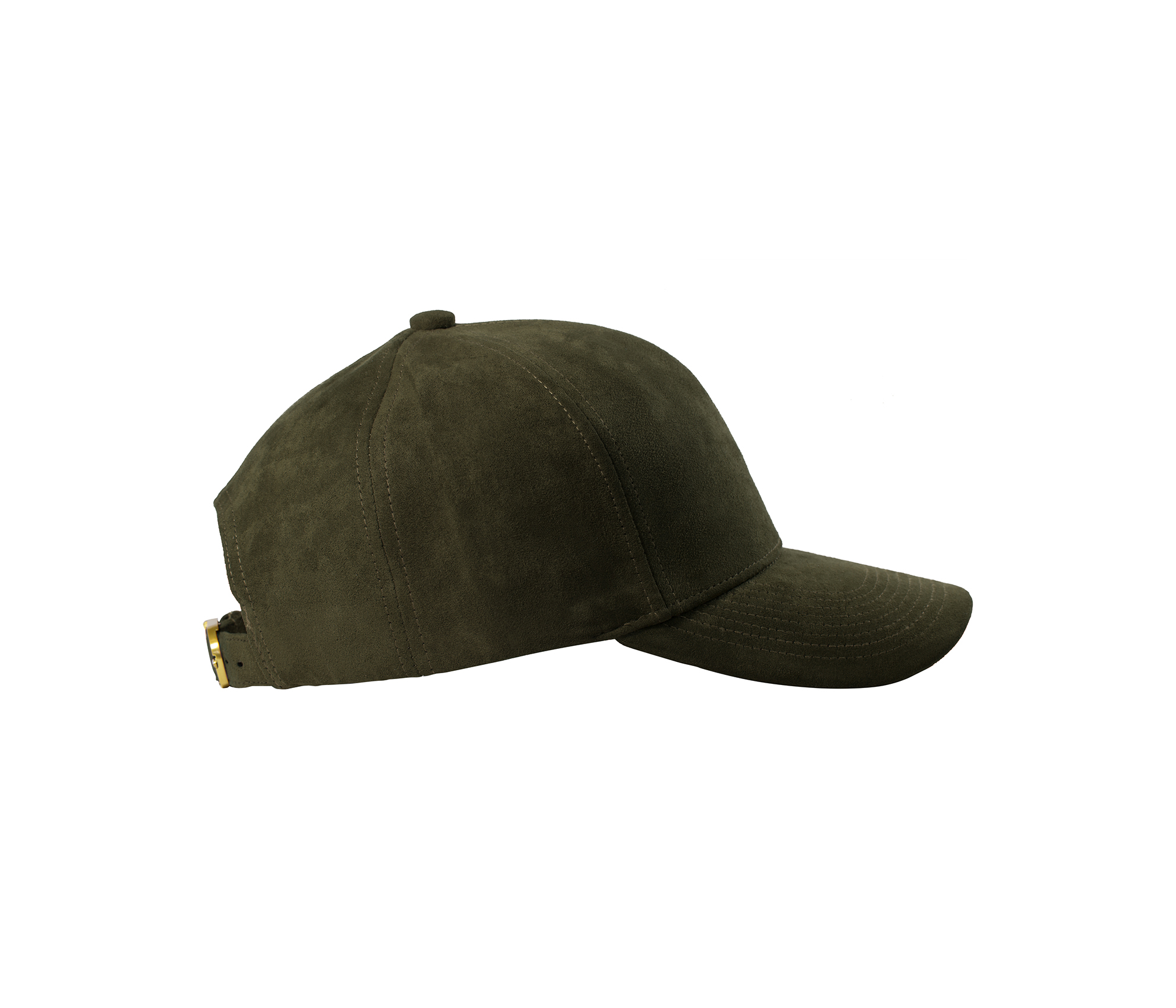 BASEBALL CAP OLIVE SUEDE GOLD SIDE