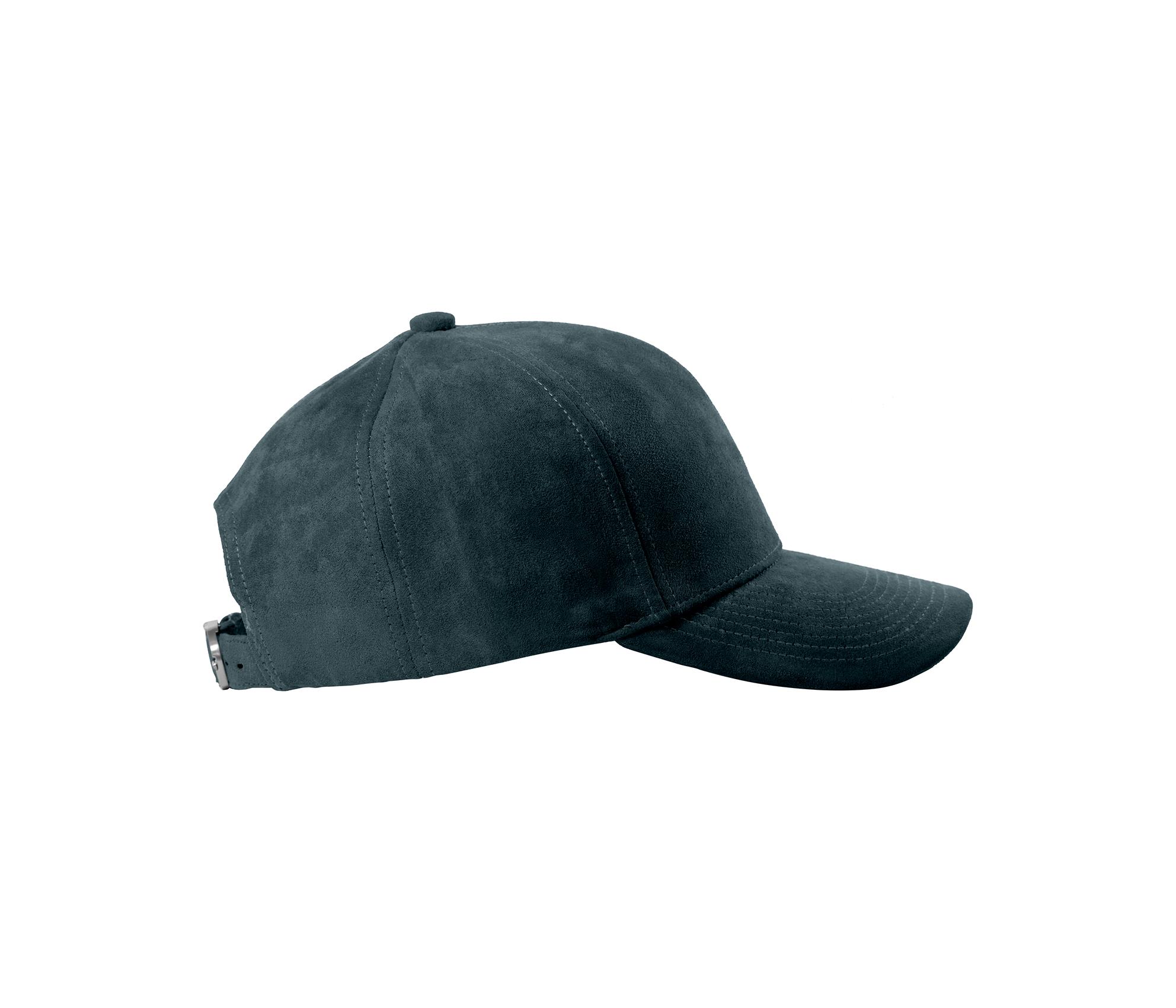 BASEBALL CAP PETROL GREEN SILVER SUEDE SIDE