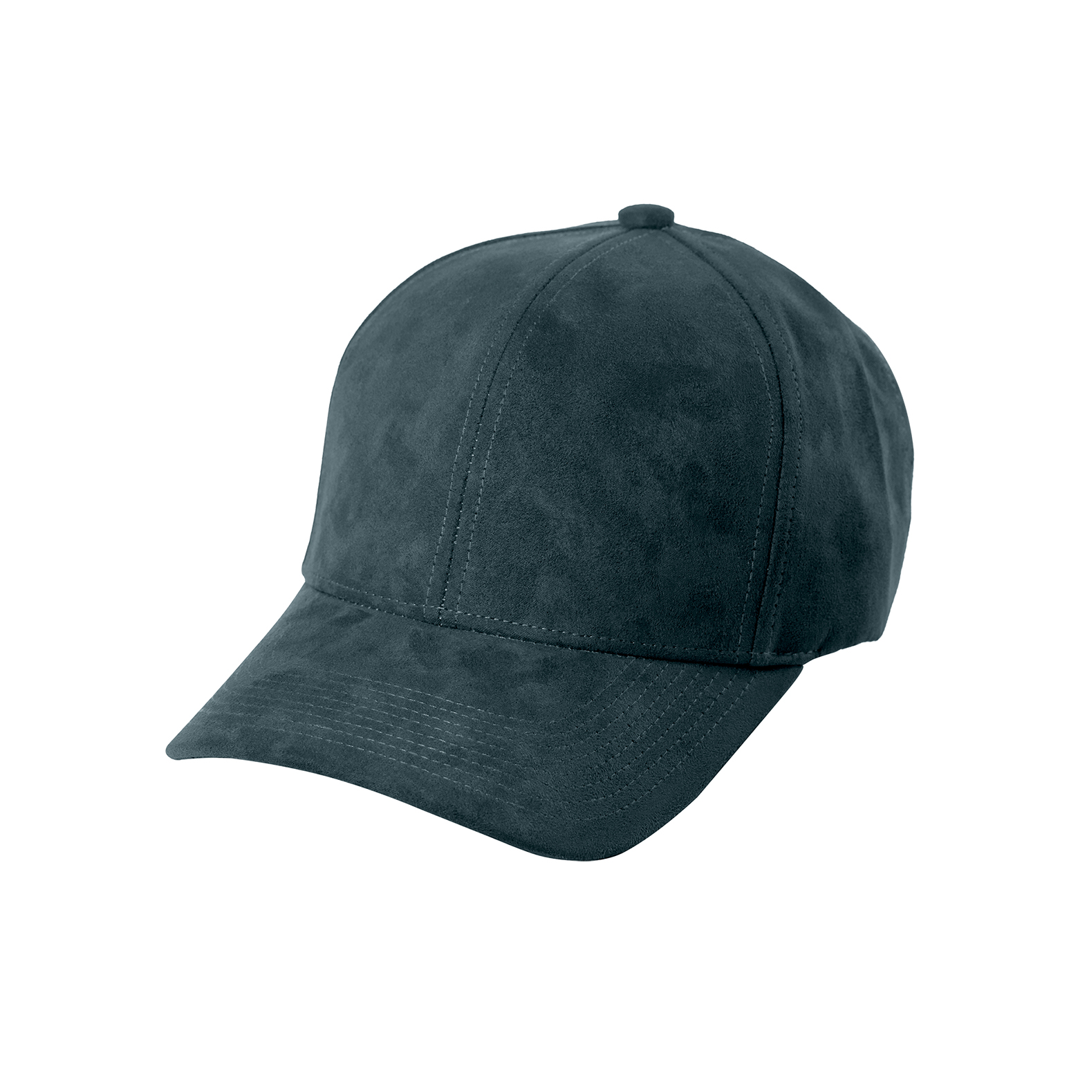 BASEBALL CAP PETROL GREEN SUEDE FRONT SIDE