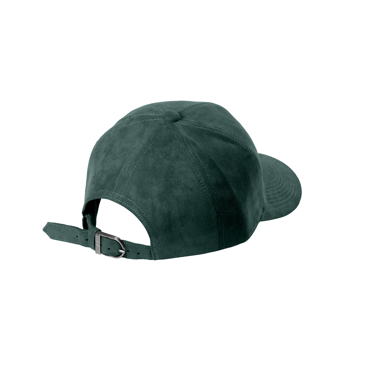 BASEBALL CAP PETROL GREEN SUEDE SILVER BACK SIDE