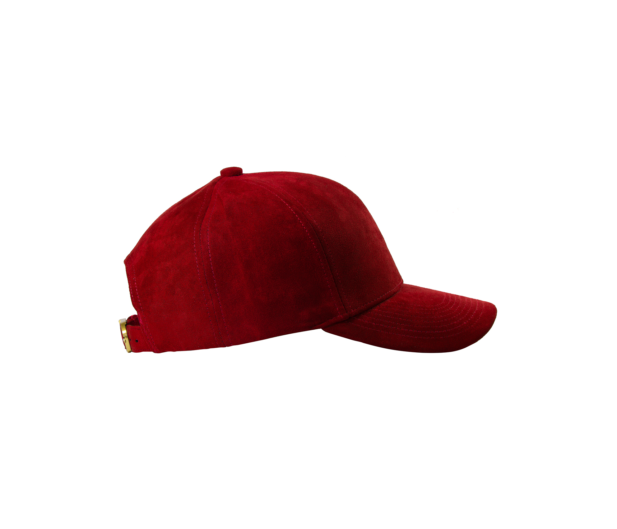 BASEBALL CAP RED SUEDE GOLD SIDE