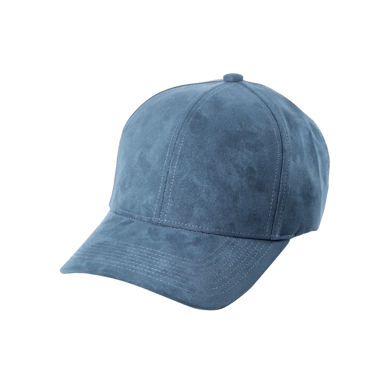 BASEBALL CAP SKY BLUE SUEDE FRONT SIDE