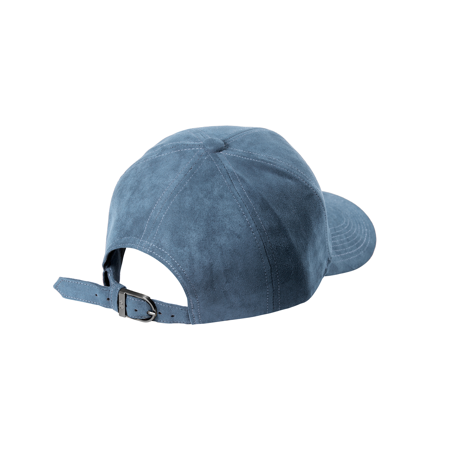 BASEBALL CAP SKY BLUE SUEDE SILVER BACK SIDE