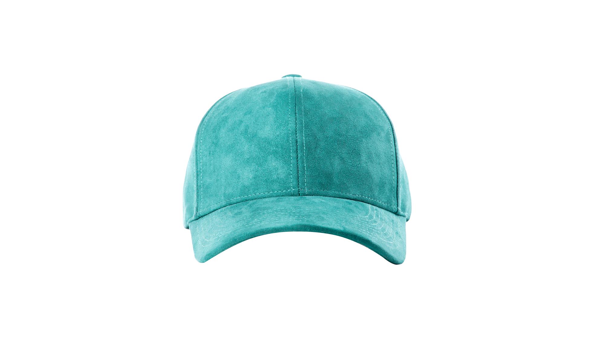 48c96ef1dd8cff DSLINE BASEBALL CAP TURQUOISE SUEDE   GOLD - DSLINE BASICS