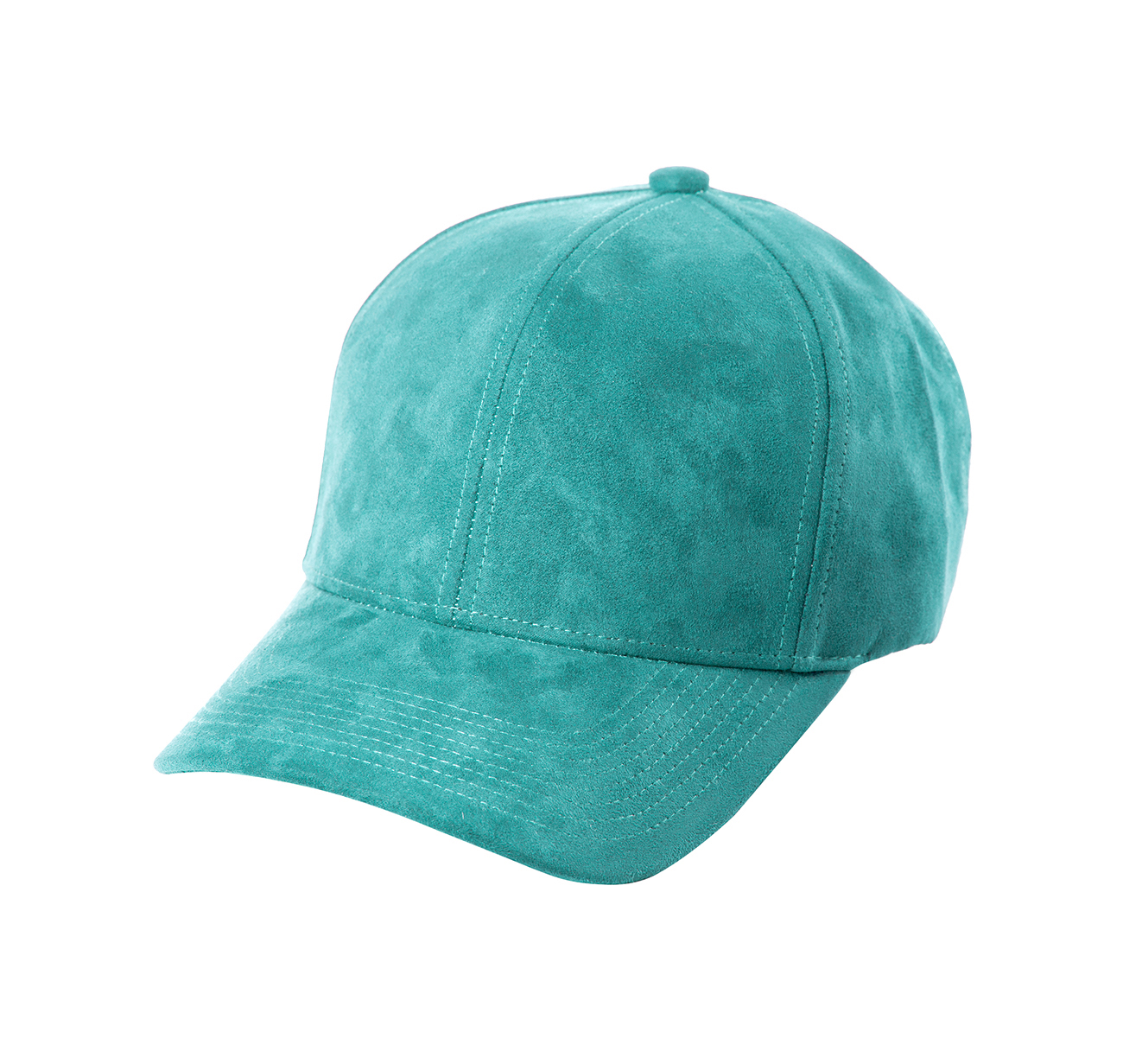 BASEBALL CAP TURQUOISE SUEDE SILVER FRONT SIDE
