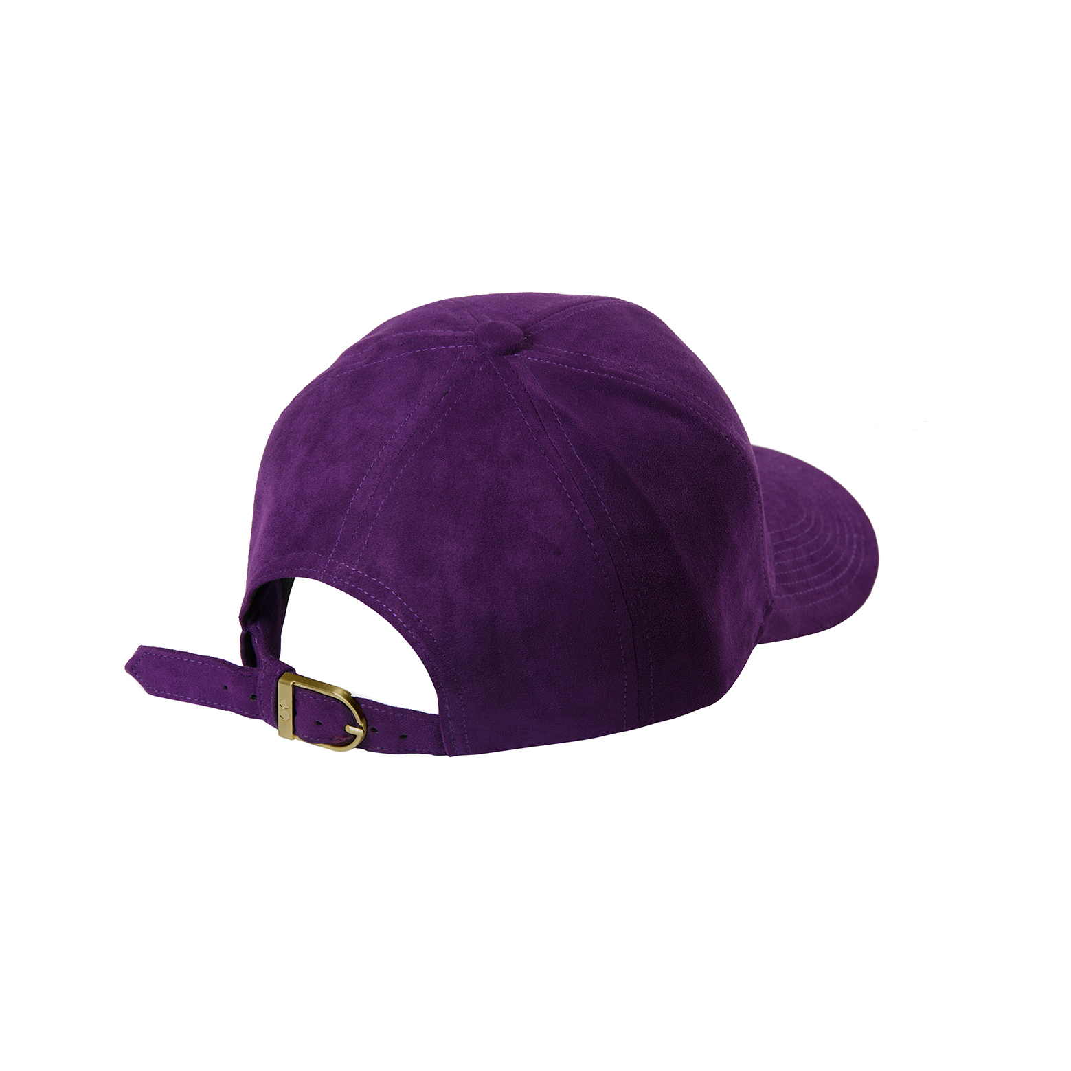 BASEBALL CAP VIOLET SUEDE BACK SIDE