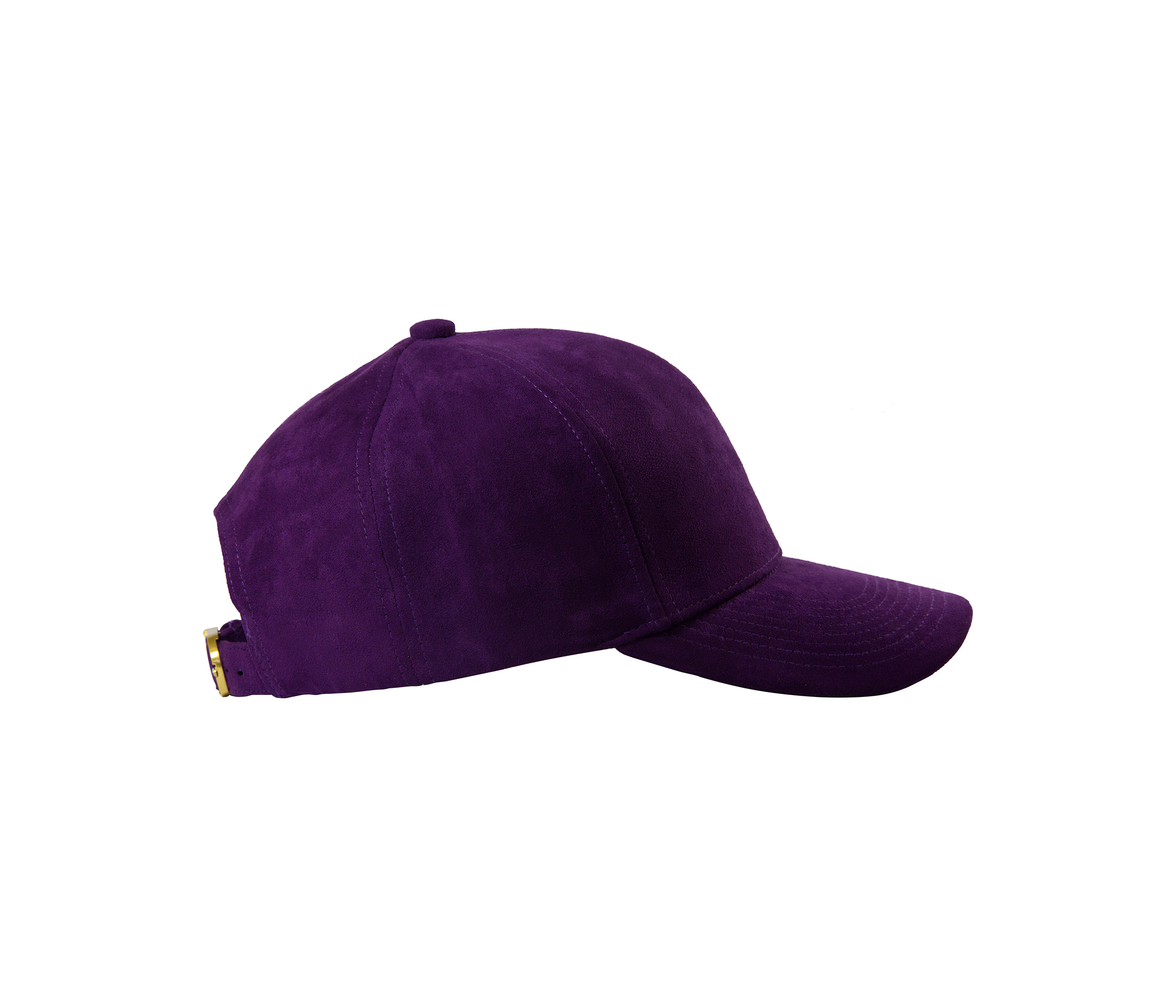BASEBALL CAP VIOLET SUEDE GOLD SIDE