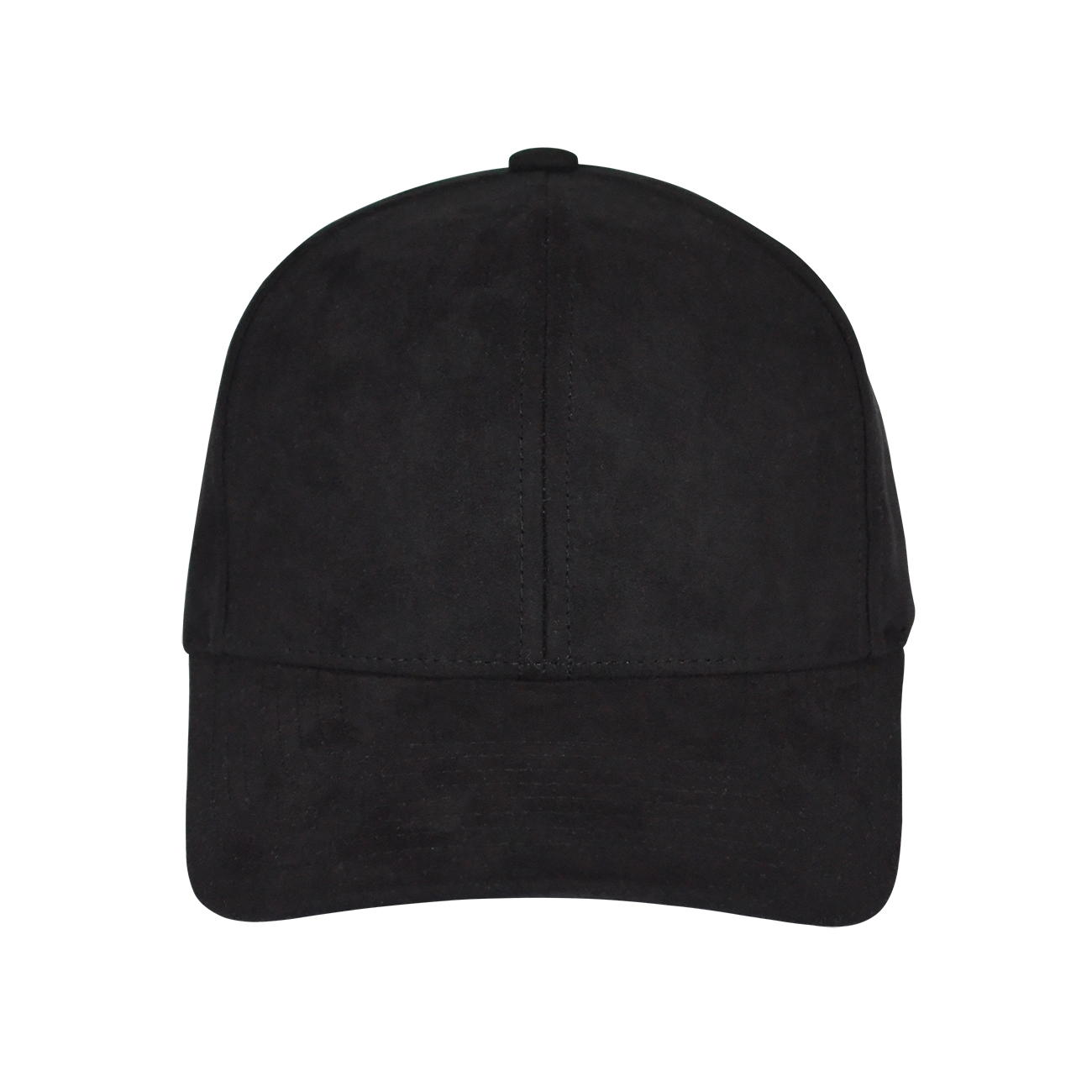 Black baseball hat front