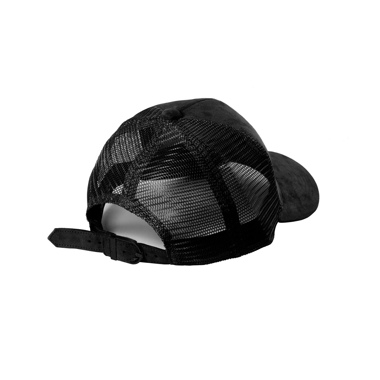 DSLINE TRUCKER BASEBALL Black Suede   Matte Black - DSLINE BASICS 1db5805ec82