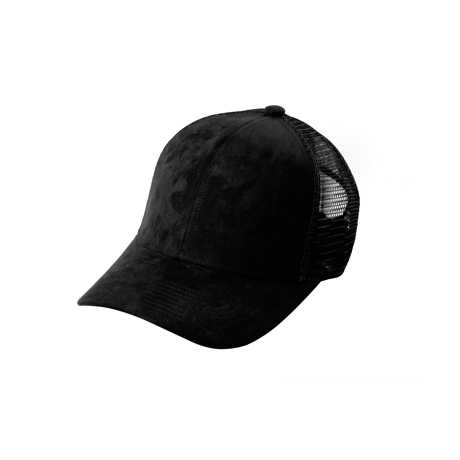TRUCKER BLACK SUEDE FRONT SIDE