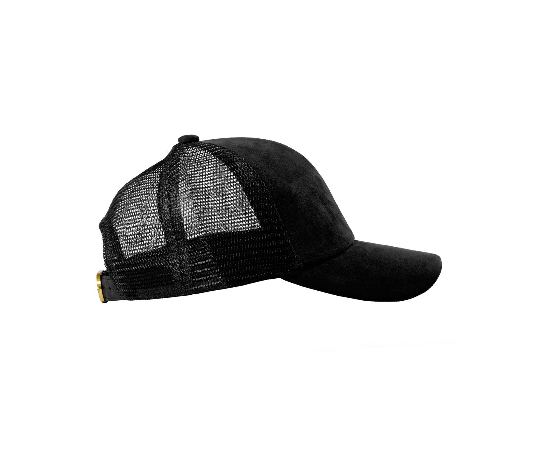 TRUCKER BLACK SUEDE GOLD SIDE