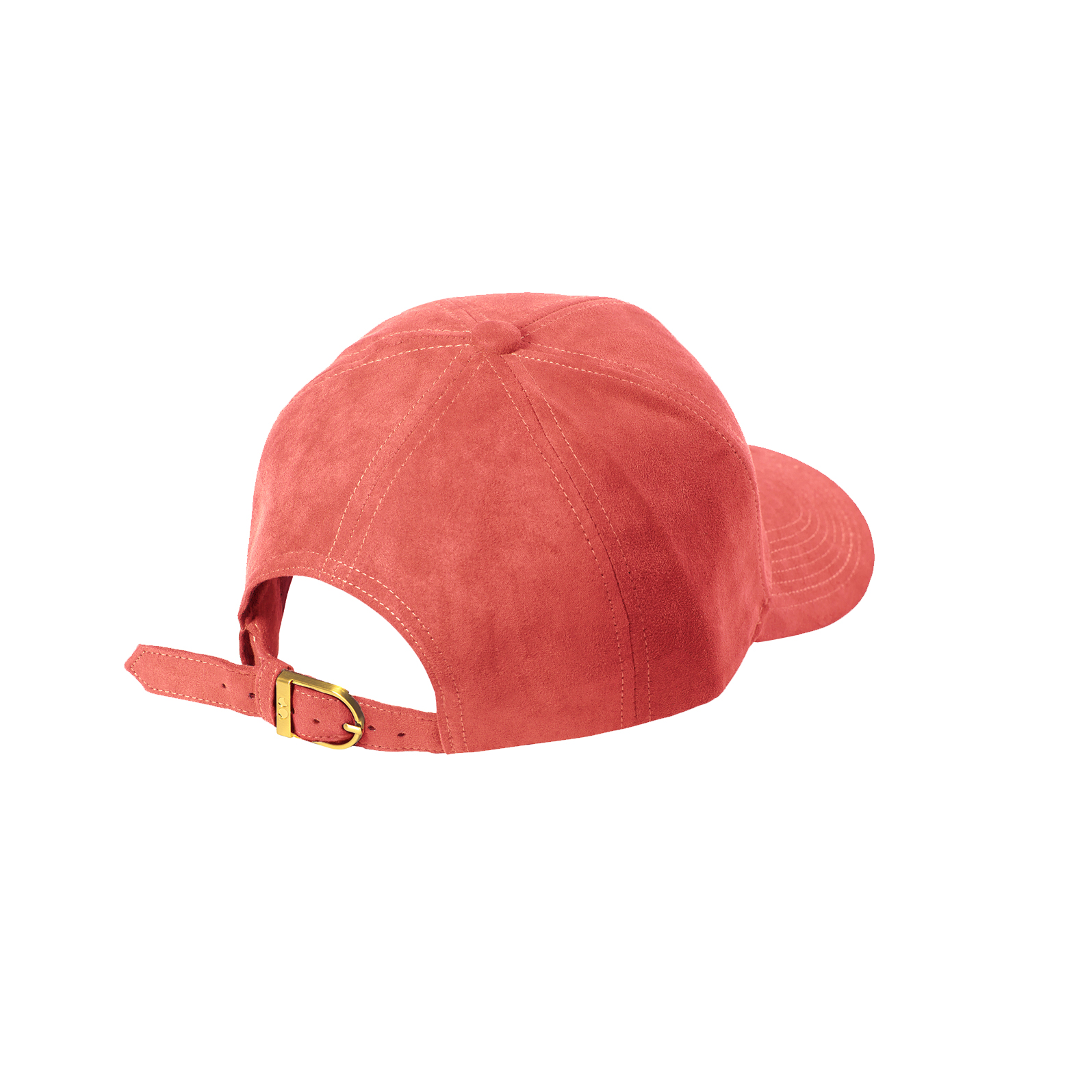 BASEBALL CAP PEACH SUEDE GOLD BACK SIDE