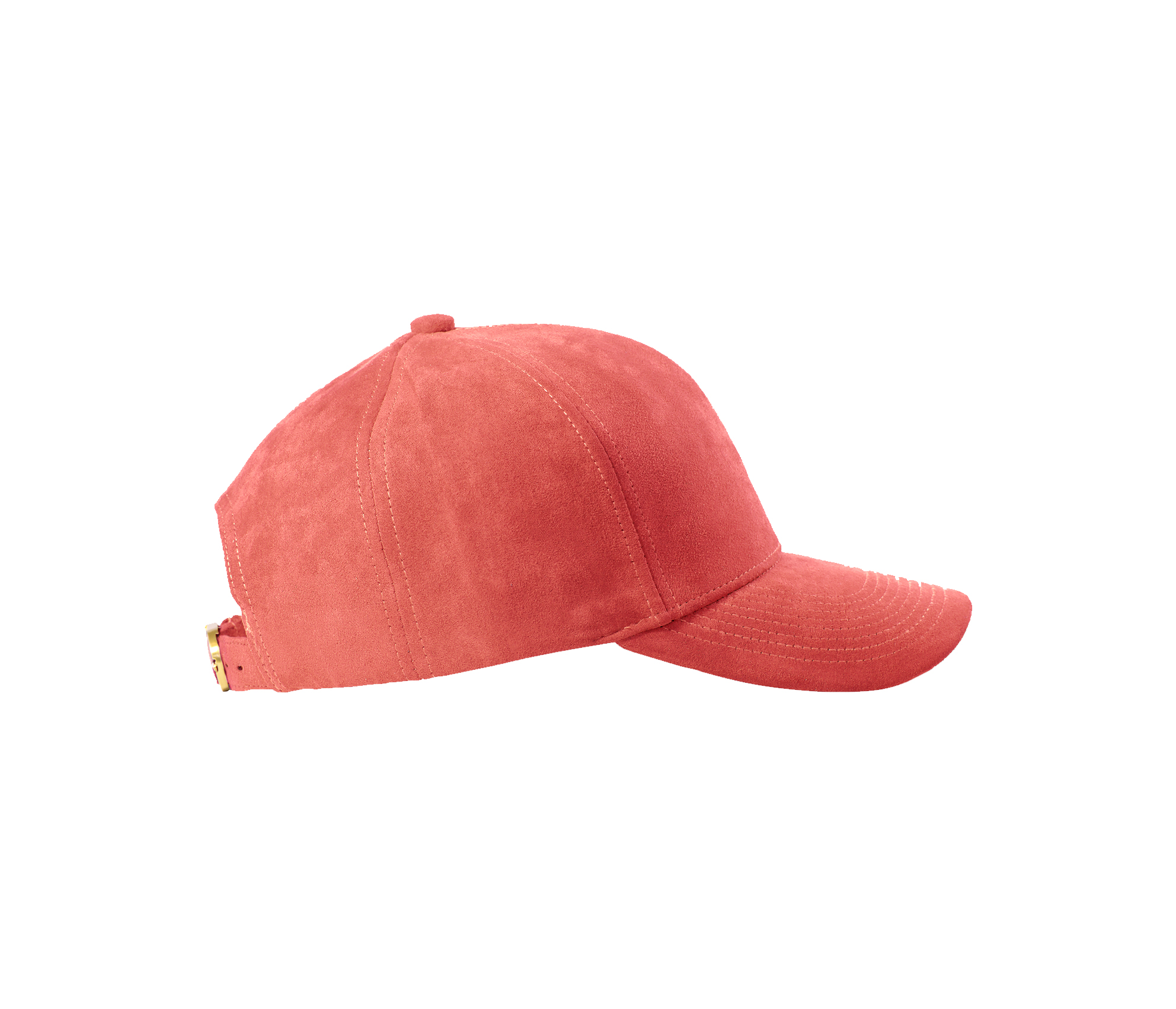 BASEBALL CAP PEACH SUEDE GOLD SIDE