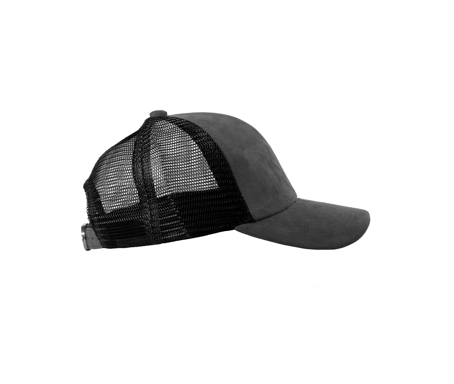 TRUCKER CAP ANTHRACITE SUEDE SIDE