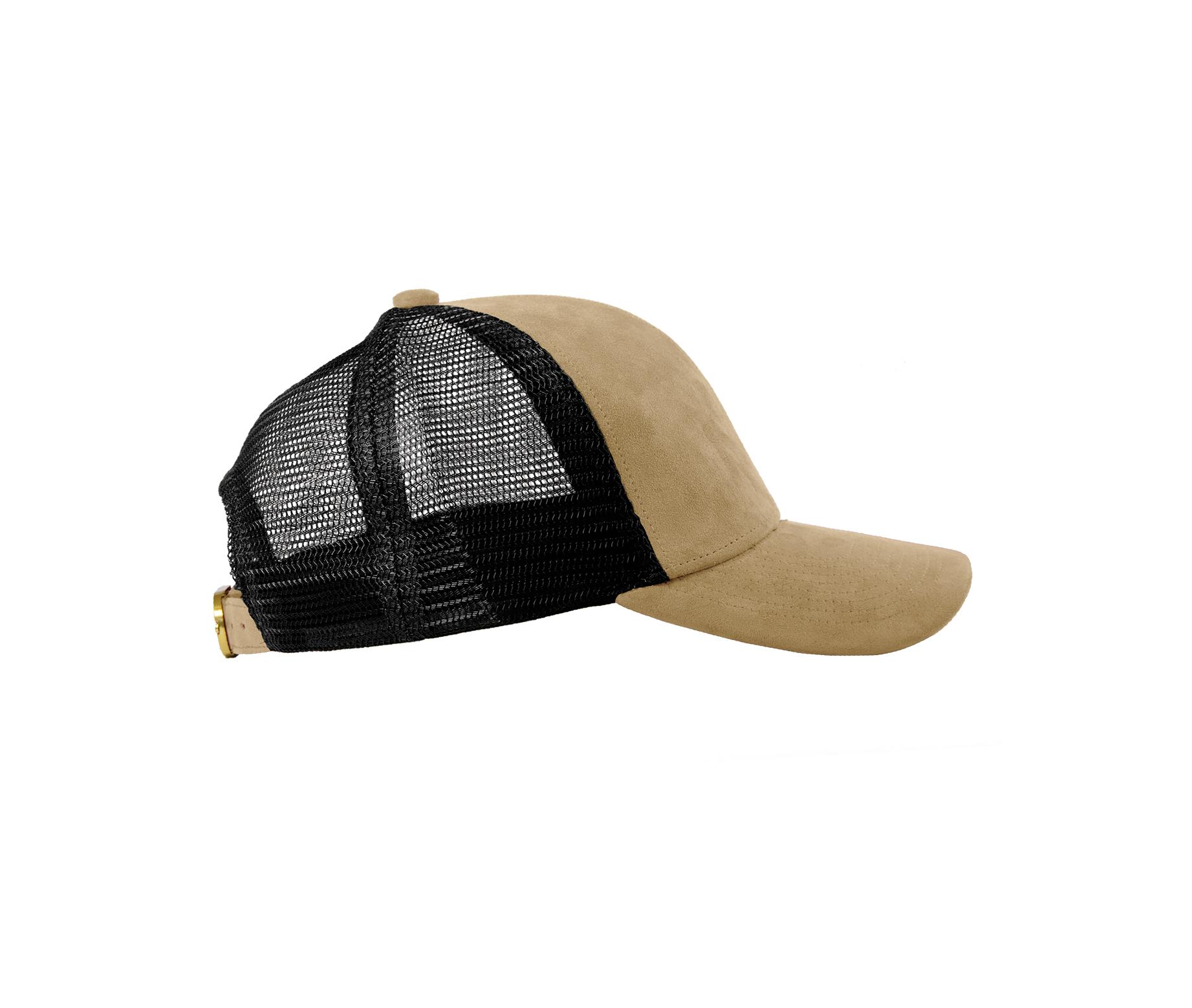 TRUCKER CAP SAND SUEDE SIDE