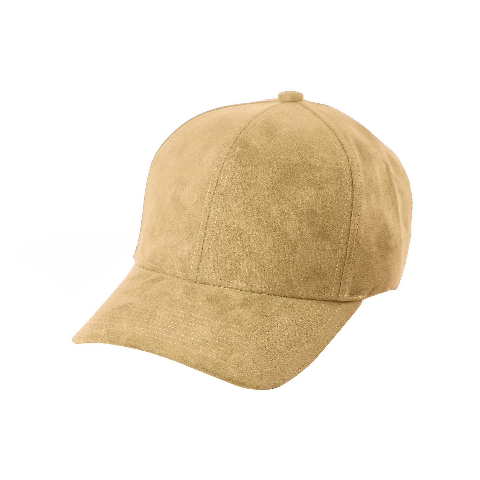 baseball-cap-beige-suede-front-side
