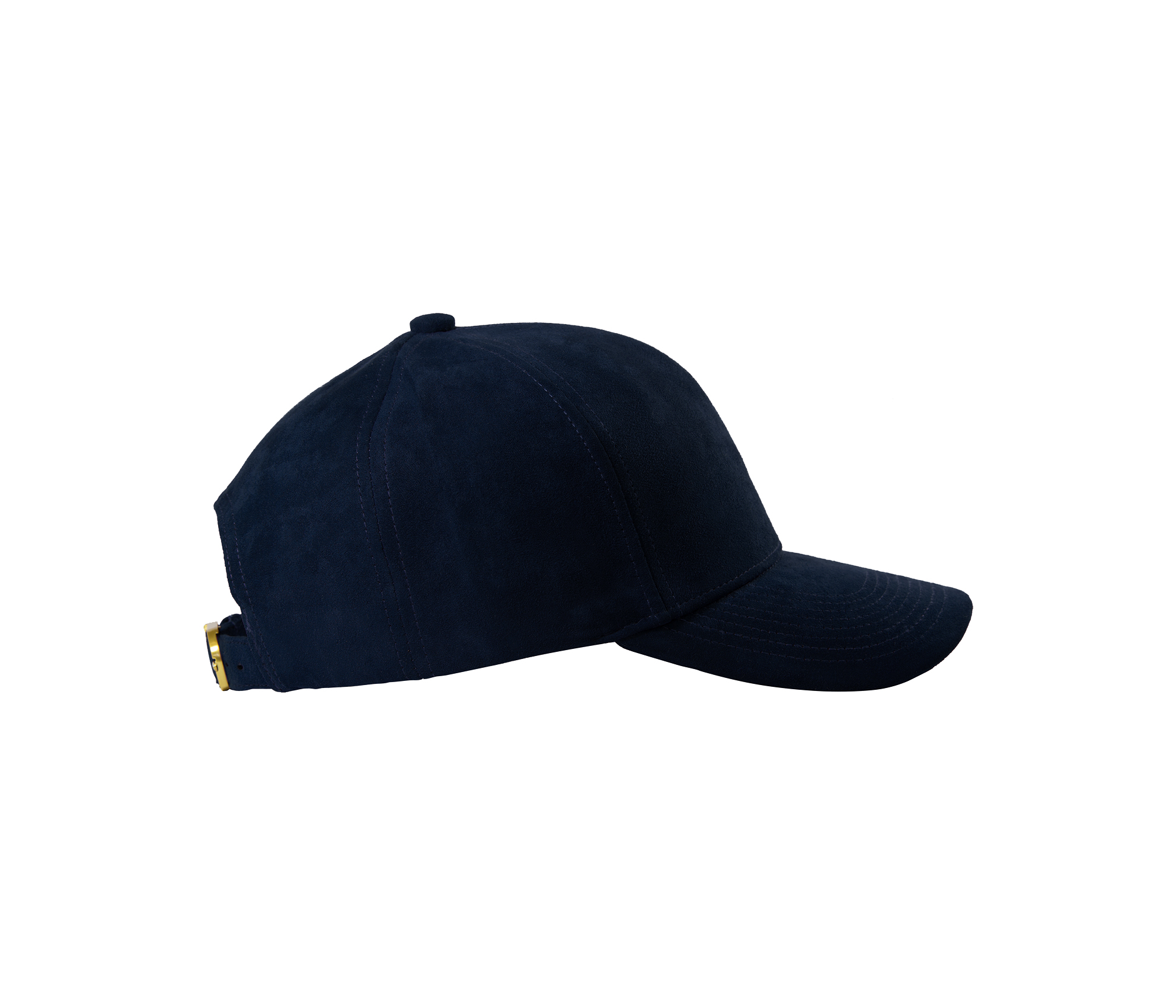 BASEBALL CAP NAVY BLUE GOLD SUEDE SIDE