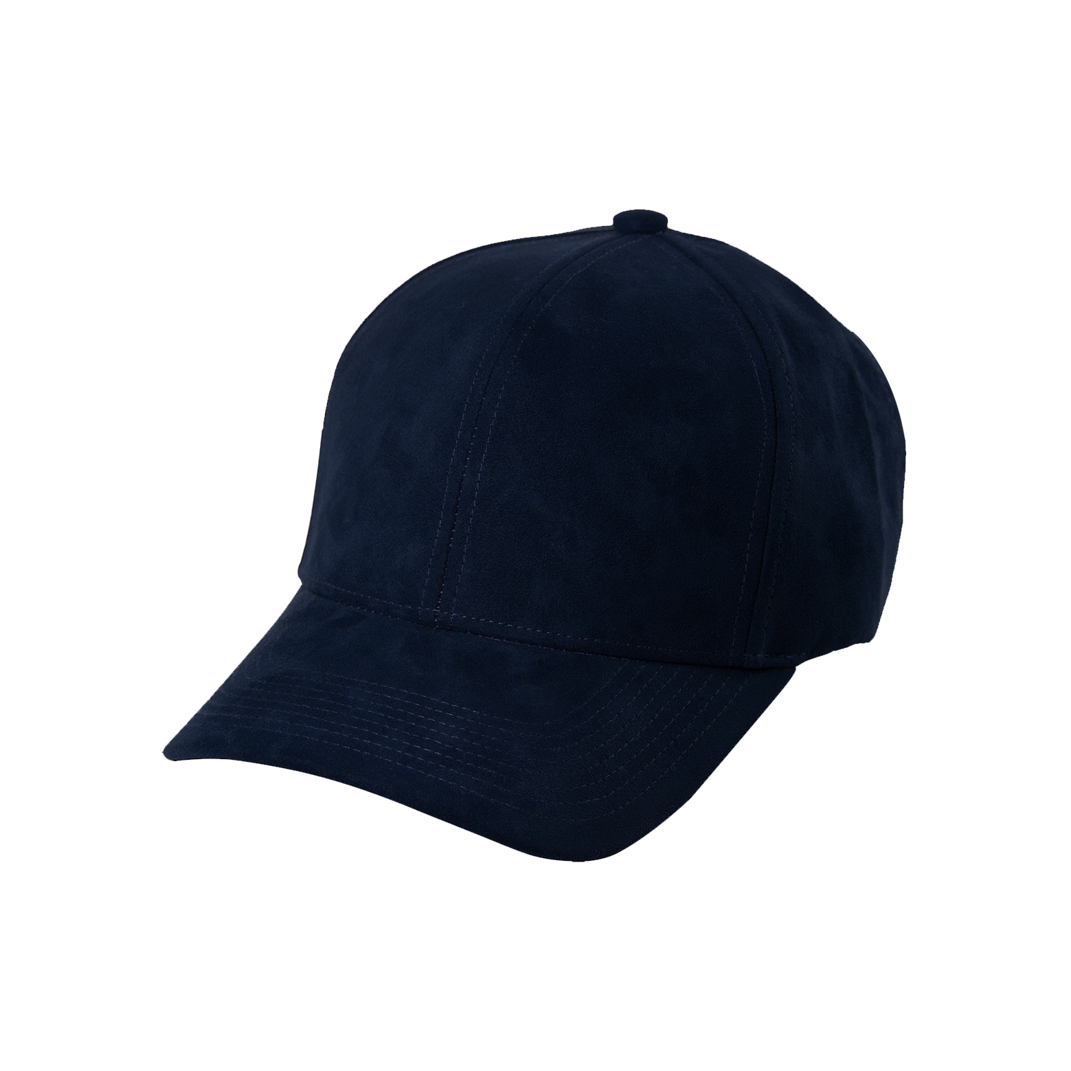 BASEBALL CAP NAVY BLUE SUEDE FRONT SIDE