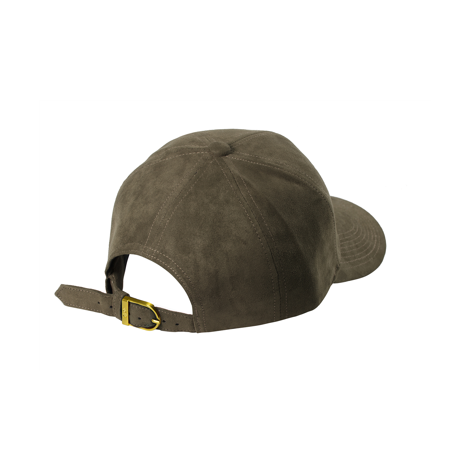 BASEBALL CAP TAUPE SUEDE BACK SIDE
