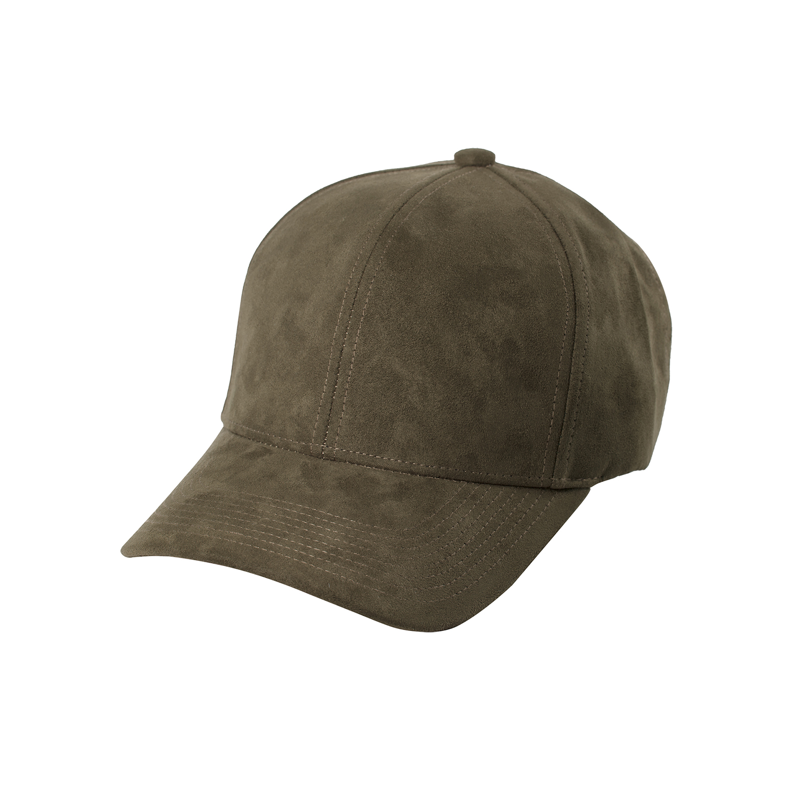 BASEBALL CAP TAUPE SUEDE FRONT SIDE