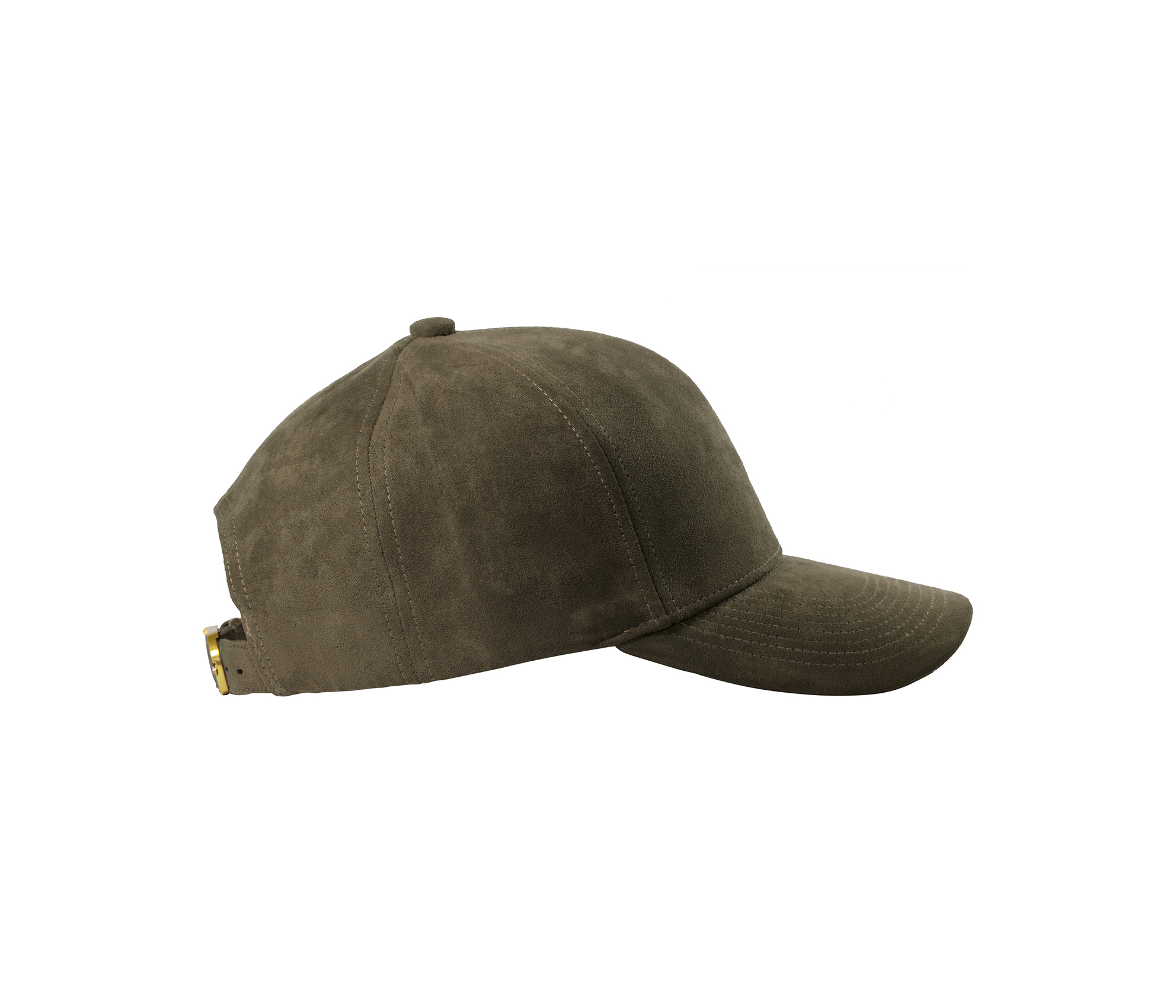 BASEBALL CAP TAUPE SUEDE GOLD SIDE