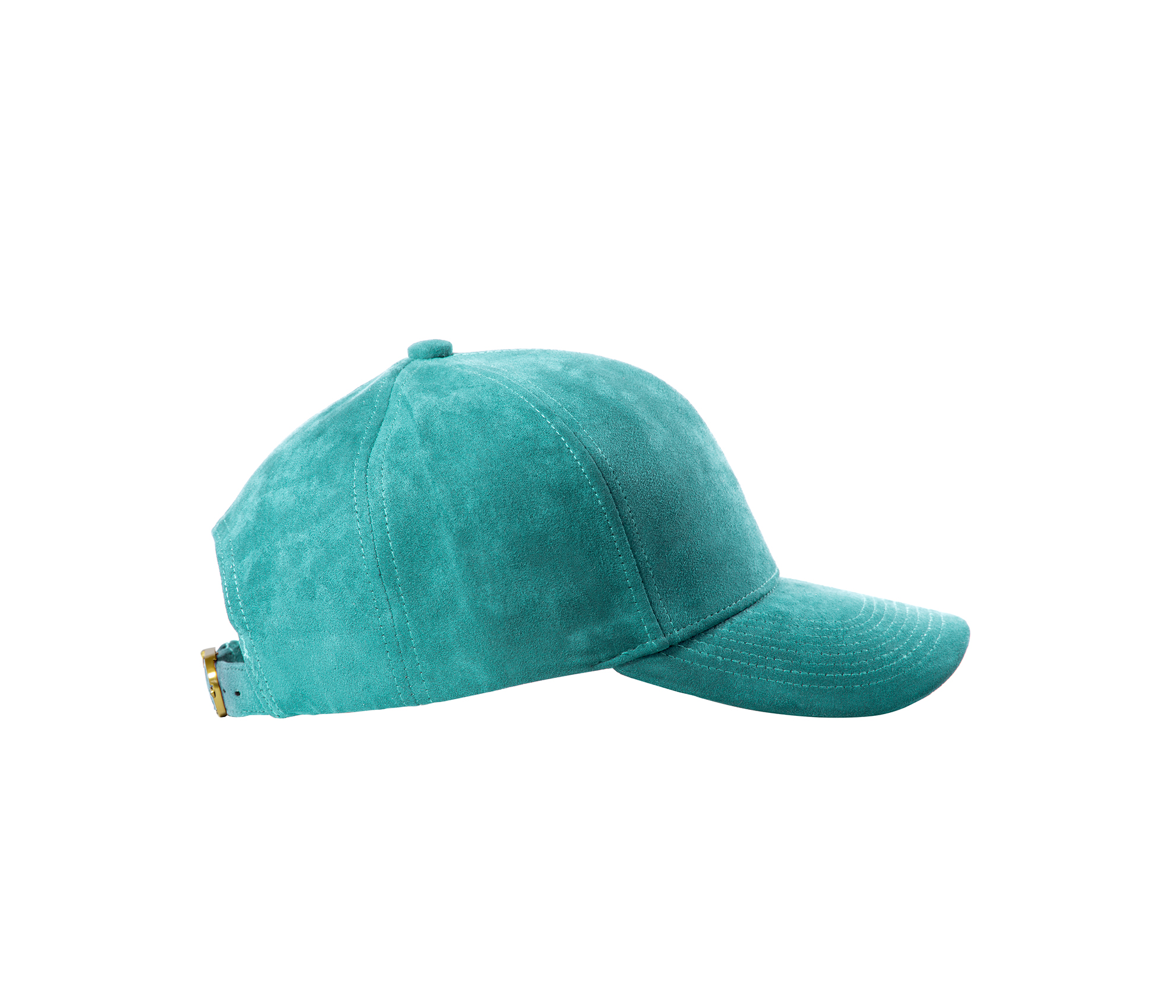 BASEBALL CAP TURQUOISE GOLD SUEDE SIDE